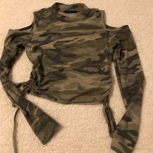 Fashion Nova Camo Top